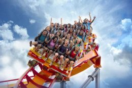 The floorless ride gets up to 56 mph over more than a half-mile of track. (Courtesy Six Flags America)