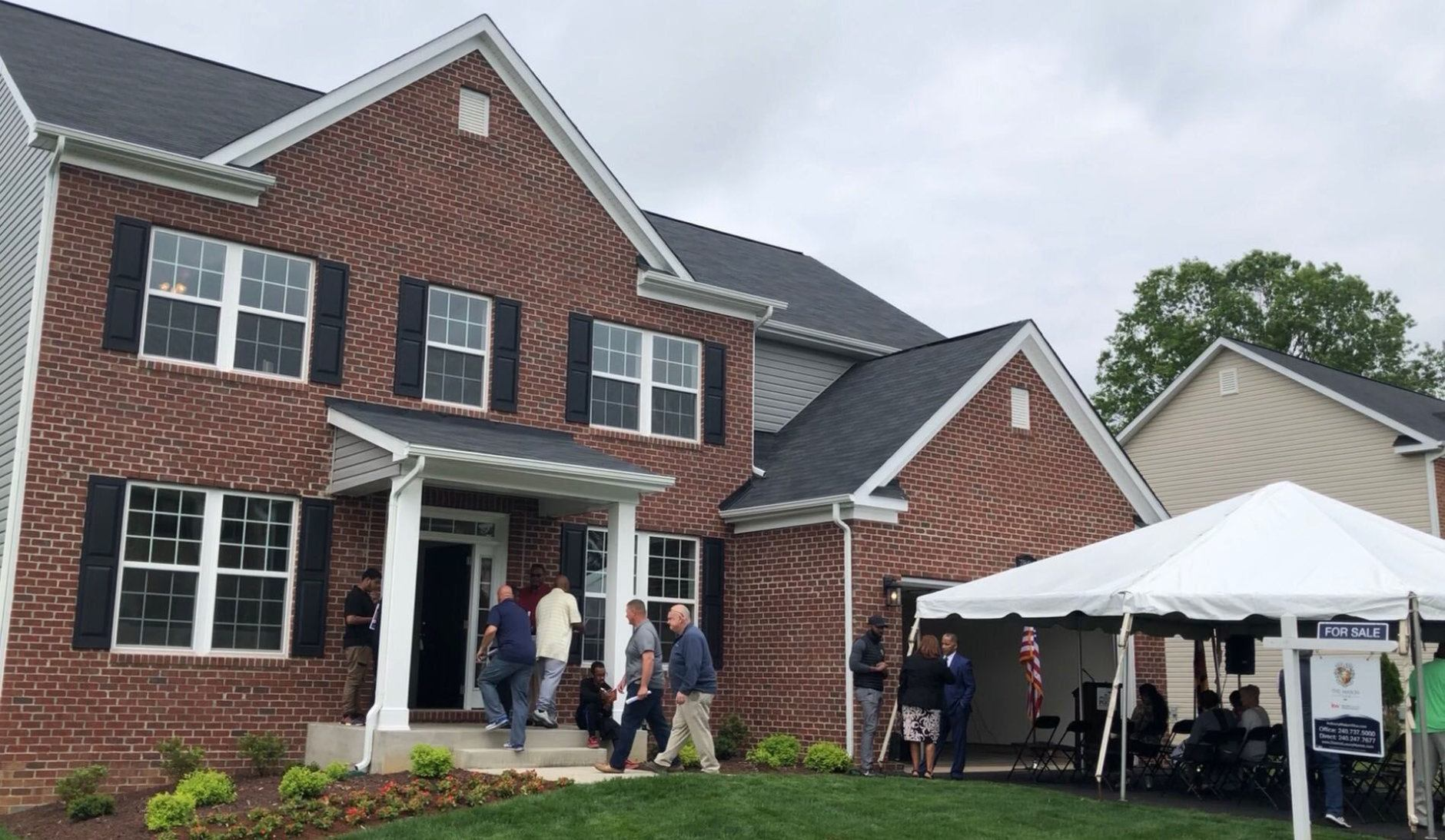 The 5,000-square-foot home at 7804 Lusby's Turn in Brandywine was built entirely by students. (WTOP/Kristi King)