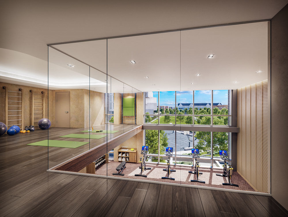 "Amenities will include a 24-hour concierge, a ""hotel-style"" lobby, club room, rooftop terrace and a two-story fitness center. (Courtesy Neoscape)"
