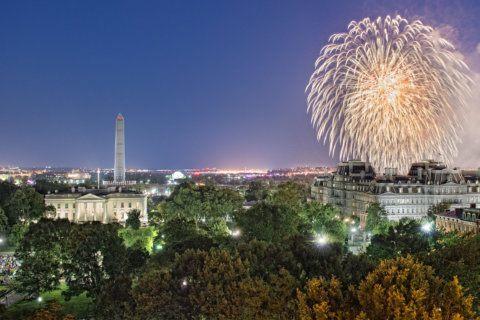 Hay-Adams' $1,200 July 4 fireworks viewing package