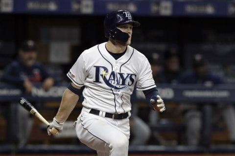 Meadows drives in 4, streaking Rays pound Twins 14-3