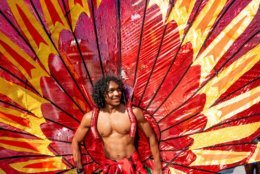 A performer from the Vava United School of Samba at the 2018 D.C. Funk Parade. (Courtesy Victoria Pickering)
