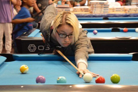 Sharks in the making: Local kids run the pool table