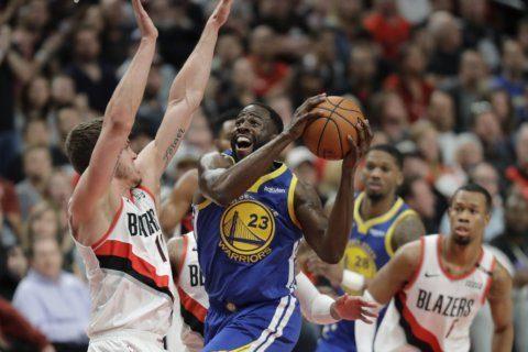 Green, Warriors beat Blazers for 3-0 lead in West finals