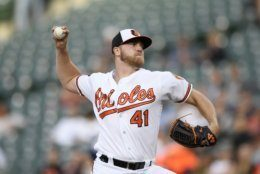 Baltimore Orioles starting pitcher David Hess delivers a throws during the first inning of the team's baseball game against the New York Yankees, Tuesday, May 21, 2019, in Baltimore. (AP Photo/Nick Wass)