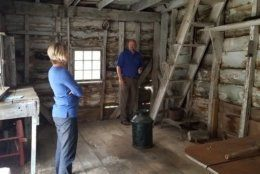 The interior of the Bayly Cabin in Cambridge, Maryalnd. (Courtesy Dorchester County)
