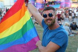 LGBTI member enjoying a parade.
