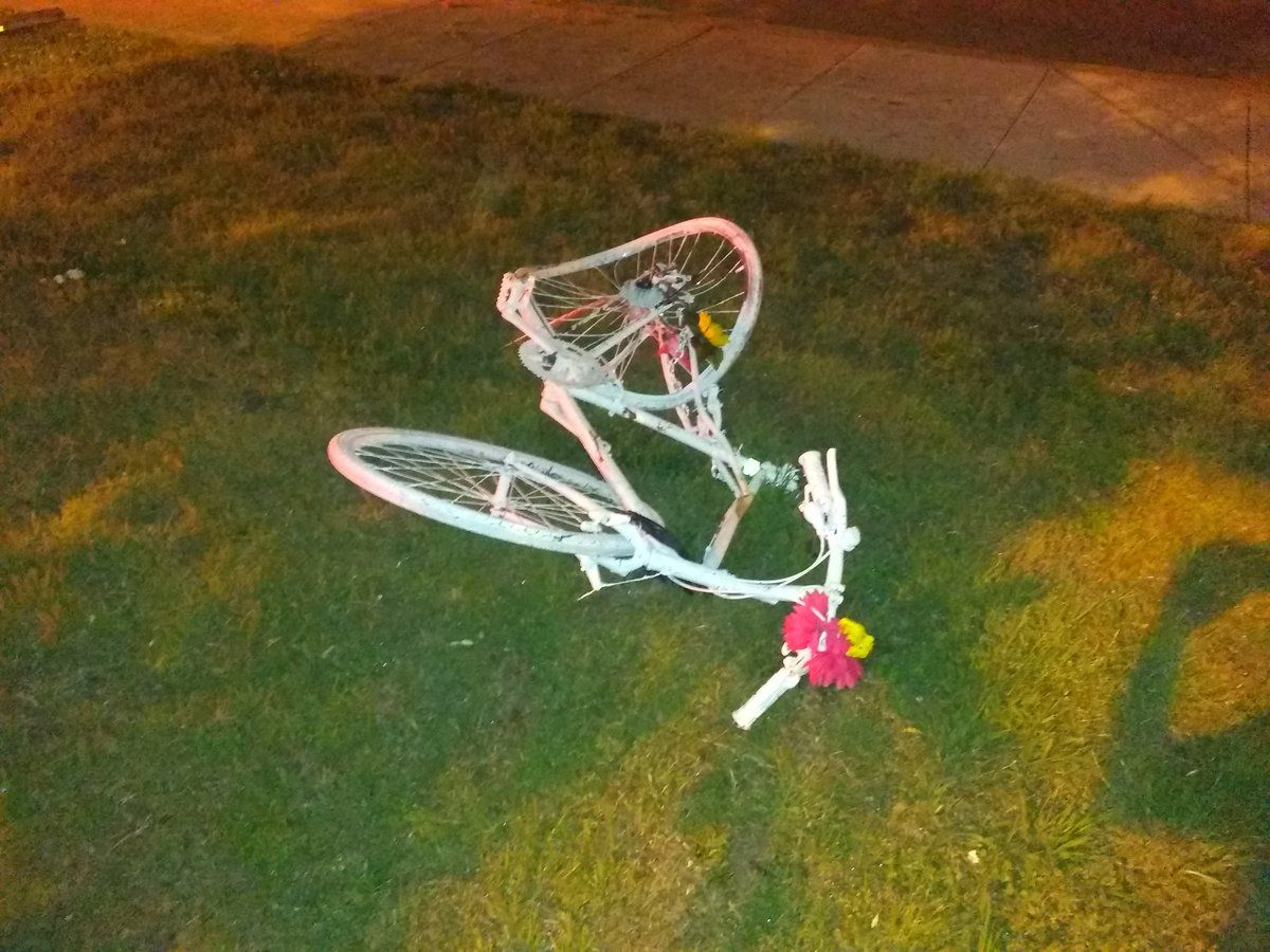Ghost bike memorial for DC cyclist gets hit, destroyed by SUV