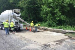 After stabilization work is done, one northbound lane will reopen and one lane will remain closed until a long-term fix can be made. (Courtesy National Park Service)