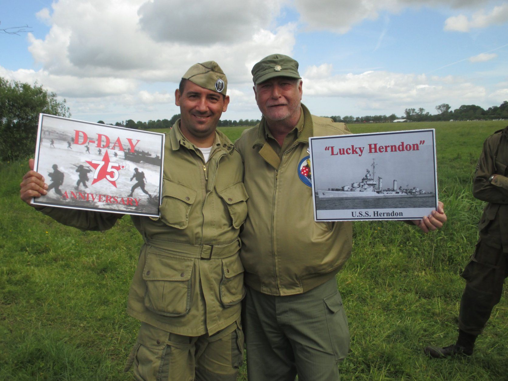 Re-enactors represent the 101st Airborne to honor those who fought in the Battle of Normandy. (Courtesy Sue Johnson)