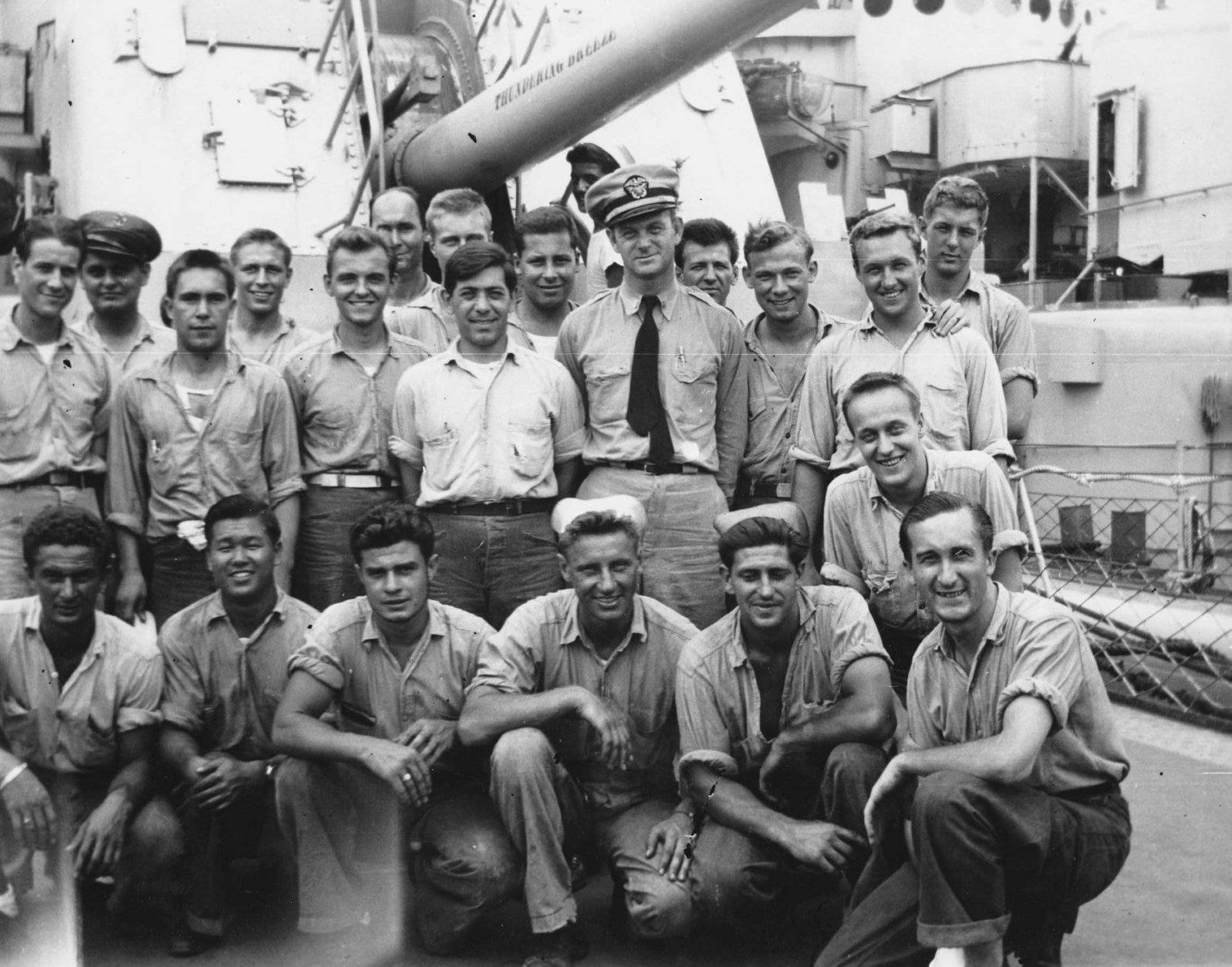 Members of the crew of the USS Herndon. (Courtesy Herndon Historical Society)