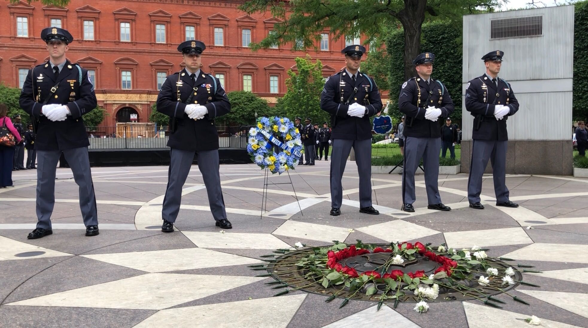 Officers Gather To Honor Fallen Officers In Vigil At Dc Memorial