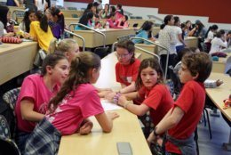 More than 130 girls participated in the inaugural InteGIRLS event at Montgomery College in Rockville, Maryland on May 18. (Courtesy/InteGIRLS)