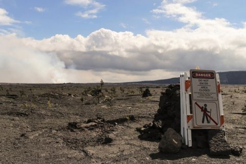 Man injured after falling from cliff into caldera of Kilauea volcano in Hawaii