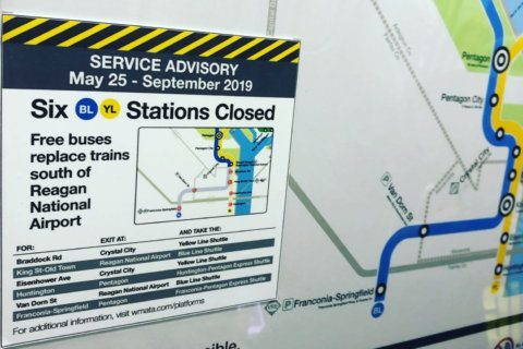 Final weekend of Blue, Yellow Line shutdown tops travel delays