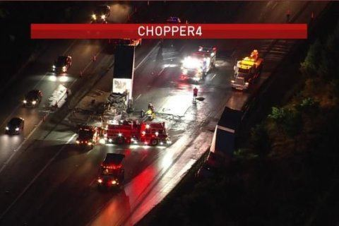 NB I-95 reopens after tractor-trailer fire in Laurel