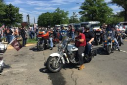 Bikers arrive at the Pentagon during the 2019 Rolling Thunder on May 26, 2019.  (WFED/Tom Temin)