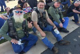 Bikers take a break from the 2019 Rolling Thunder ride. (WFED/Tom Temin)