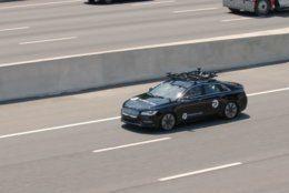 Transurban tests a self-driving car on I-95. (Courtesy Transurban)
