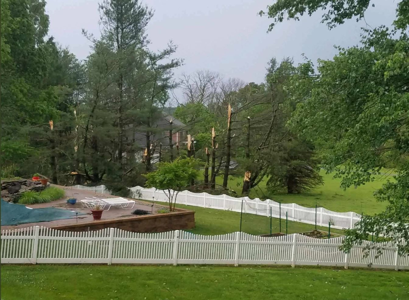 Storms in Howard County, Maryland, cause damage on Thursday, May 30, 2019. (Courtesy JBR  via Twitter)