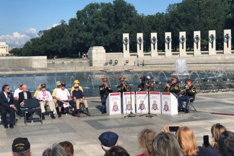 World War II military deaths remembered at National Mall memorial