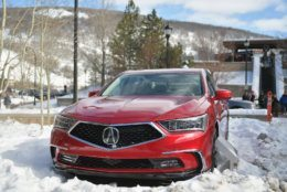 PARK CITY, UT - JANUARY 23:  A 2018 Acura RLX on display at Sundance Film Festival 2018 on January 23, 2018 in Park City, Utah.  (Photo by Neilson Barnard/Getty Images for Acura)