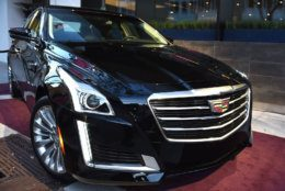 The 2015 Cadillac CTS on display at The Hollywood Reporter Nominees Night presented by Cadillac, with Delta, Roberto Coin, and Neiman Marcus Beverly Hills at Spago on Mon. Feb. 2, 2015, in Beverly Hills, Calif. (Photo by Jordan Strauss/Invision for The Hollywood Reporter/AP Images)