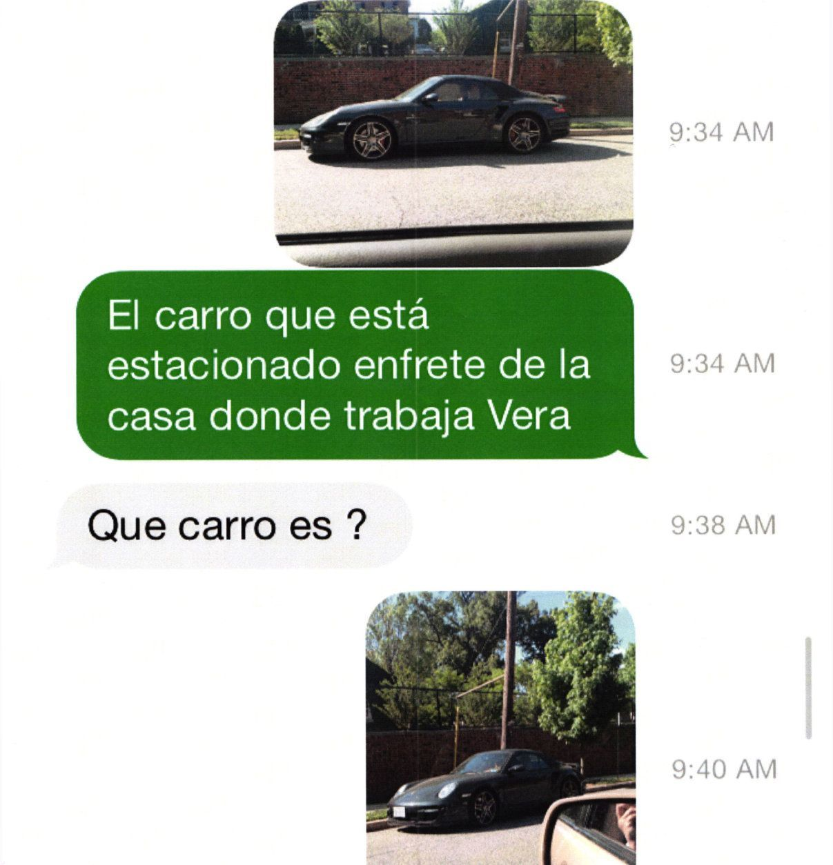 Vera Figueroa's stepdaughter Claudia Alfaro went with her dad to Woodland Drive on Thursday May 14, 2015 to try to find Vera. While her dad, Bernardo Alfaro, was knocking on the front door, she noticed a flash sports car on the street. The 2008 Porsche 911 Turbo was Amy's. What happened to that Porsche ended up being a major part of the crime. (Courtesy U.S. Attorney's Office for D.C.)