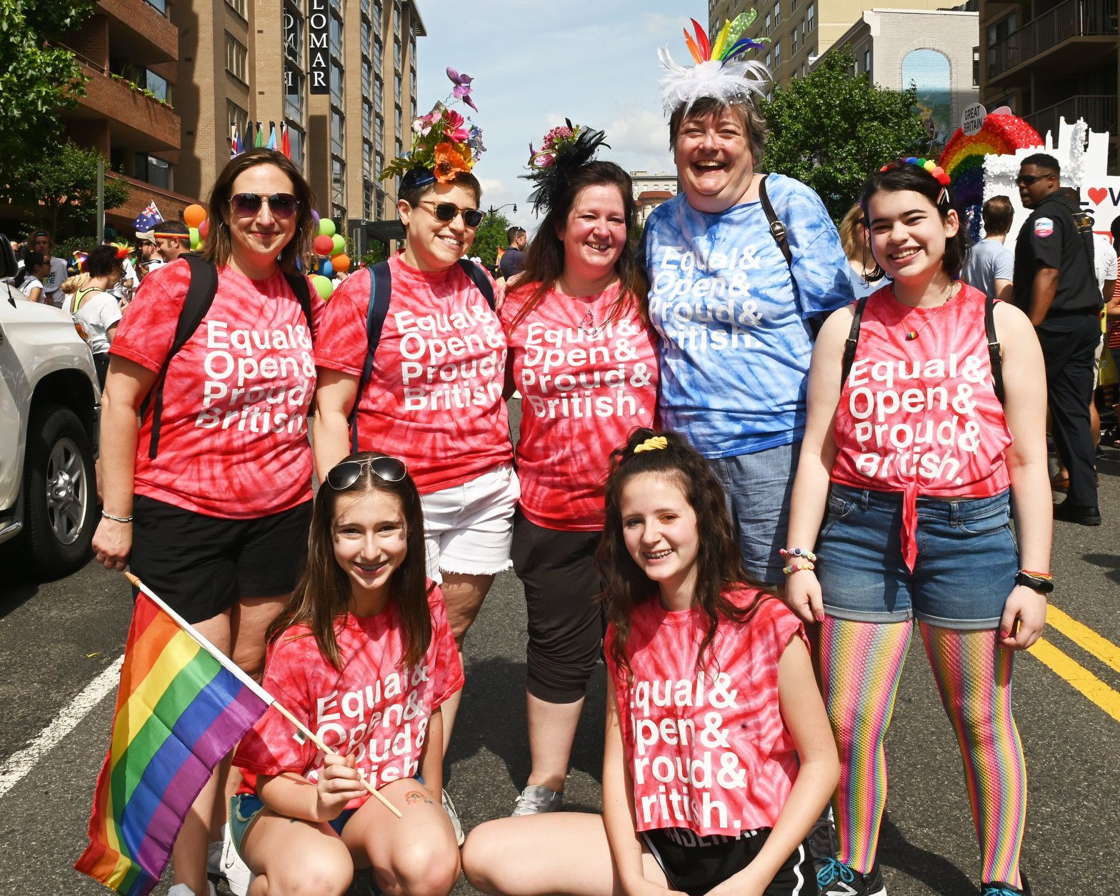 Families from Great Britain celebrating Pride Month during the 2019 Capital Pride Parade. (Courtesy Shannon Finney Photography)