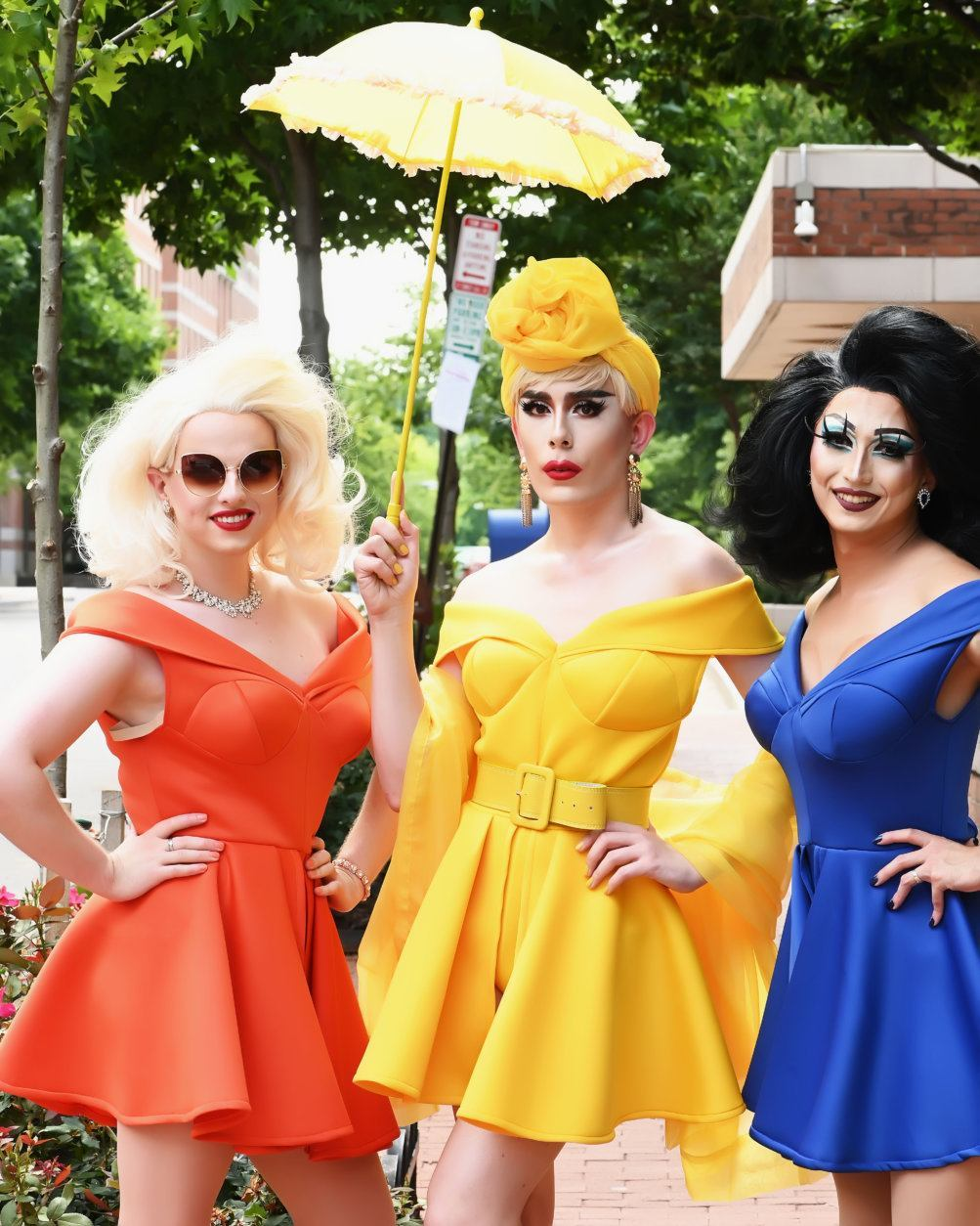 Dreama, Citrine and Logan Stone of The Haus of Stone at the 2019 Capital Pride Parade. (Courtesy Shannon Finney Photography)