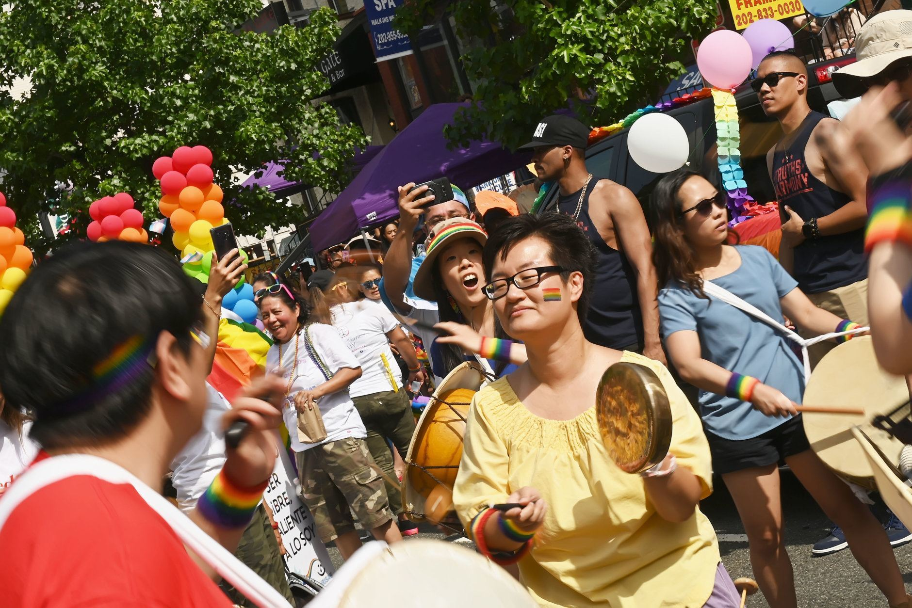 The Korean Queer and Transgender Association drum circle at the 2019 Capital Pride Parade. (Courtesy Shannon Finney Photography)
