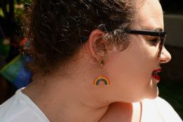 The rainbow flag was everywhere, including on jewelry, during the 2019 Capital Pride Parade. (Courtesy Shannon Finney Photography)