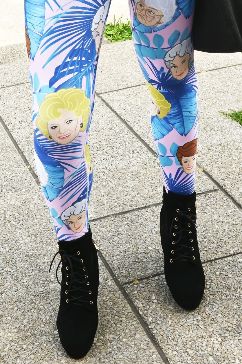 "Leggings depicting characters from the television show, ""The Golden Girls"" at the 2019 Capital Pride Parade. (Courtesy Shannon Finney Photography)"