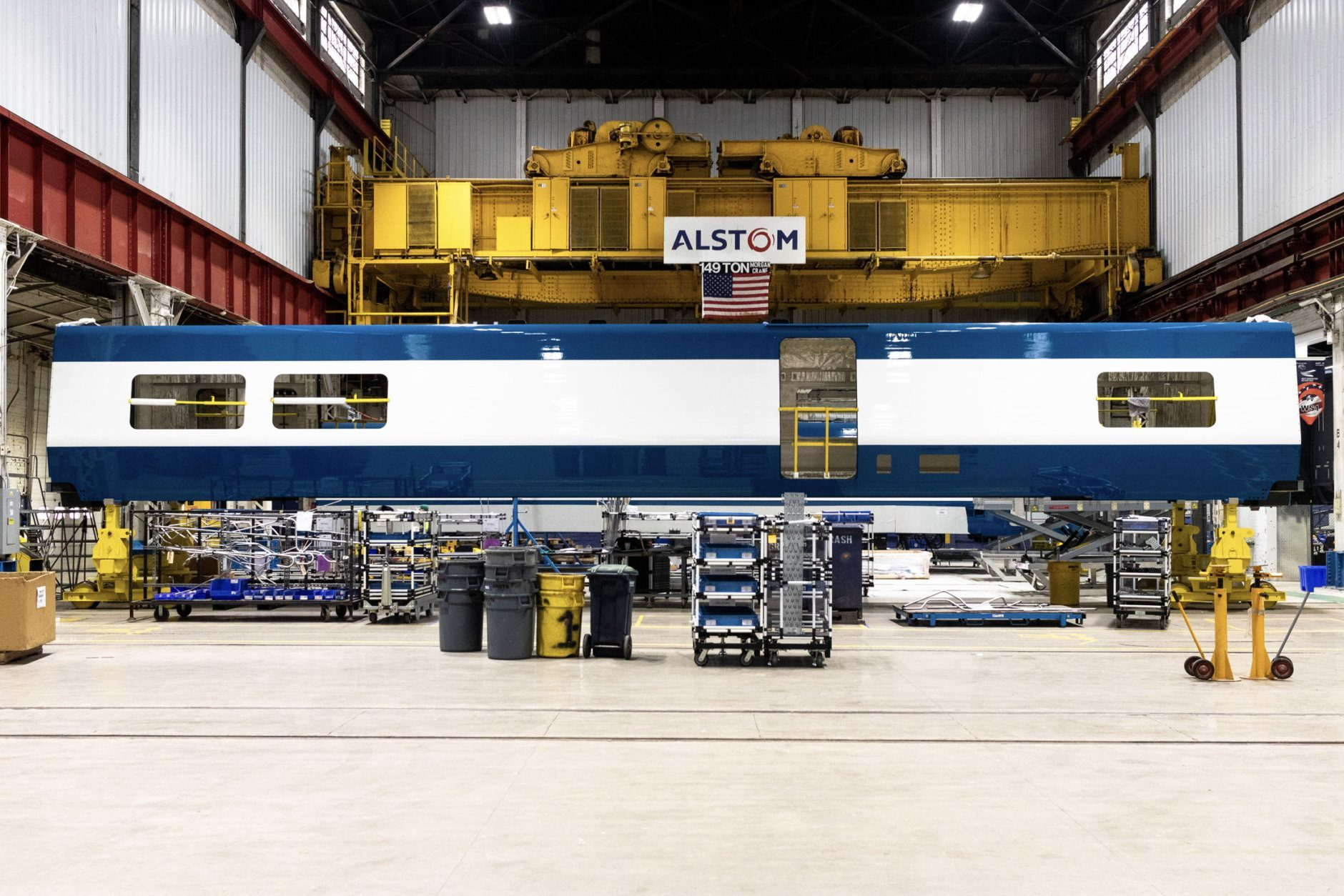 The first prototype of the new Acelas will be ready for testing later this year and will go into passenger service toward the end of 2022. They will carry 30% more passengers and reach 160 mph. (Courtesy Amtrak)