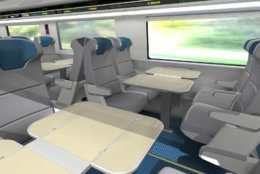 The seats will be leather, with in-seat lighting. (Alstom SA 2018)