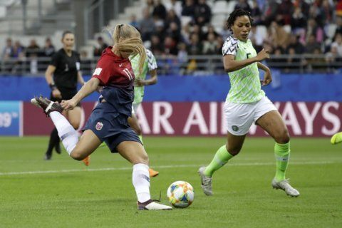 Norway opens World Cup with 3-0 win over Nigeria