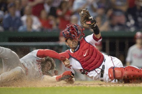 Nationals hit 3 HRs, complete sweep of Phillies with 7-4 win
