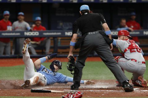 Rays survive 9th inning Angels' rally, win 6-5