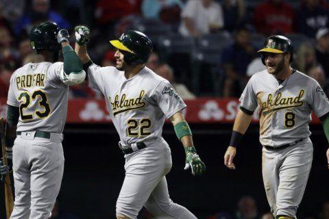 Laureano, Montas help Oakland snap 5-game losing streak