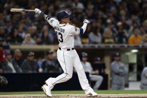 Machado homers to back Lucchesi in Padres' 2-0 win