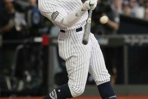 Yankees outslug Red Sox 17-13 in MLB's 1st game in Europe