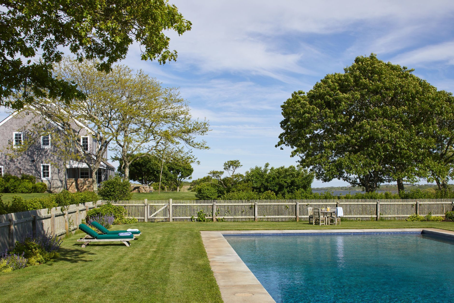 Red Gate Farm features a tennis court and a swimming pool. (Laura Moss Photography)