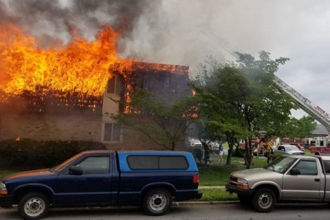 'Total loss': Flames engulf 7-unit townhome in Frederick, Maryland