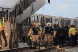 A screenshot from a DC Fire and EMS documentary shows crews  responding to a crash on the Red Line on June 22, 2009. (Courtesy DC Fire and EMS)