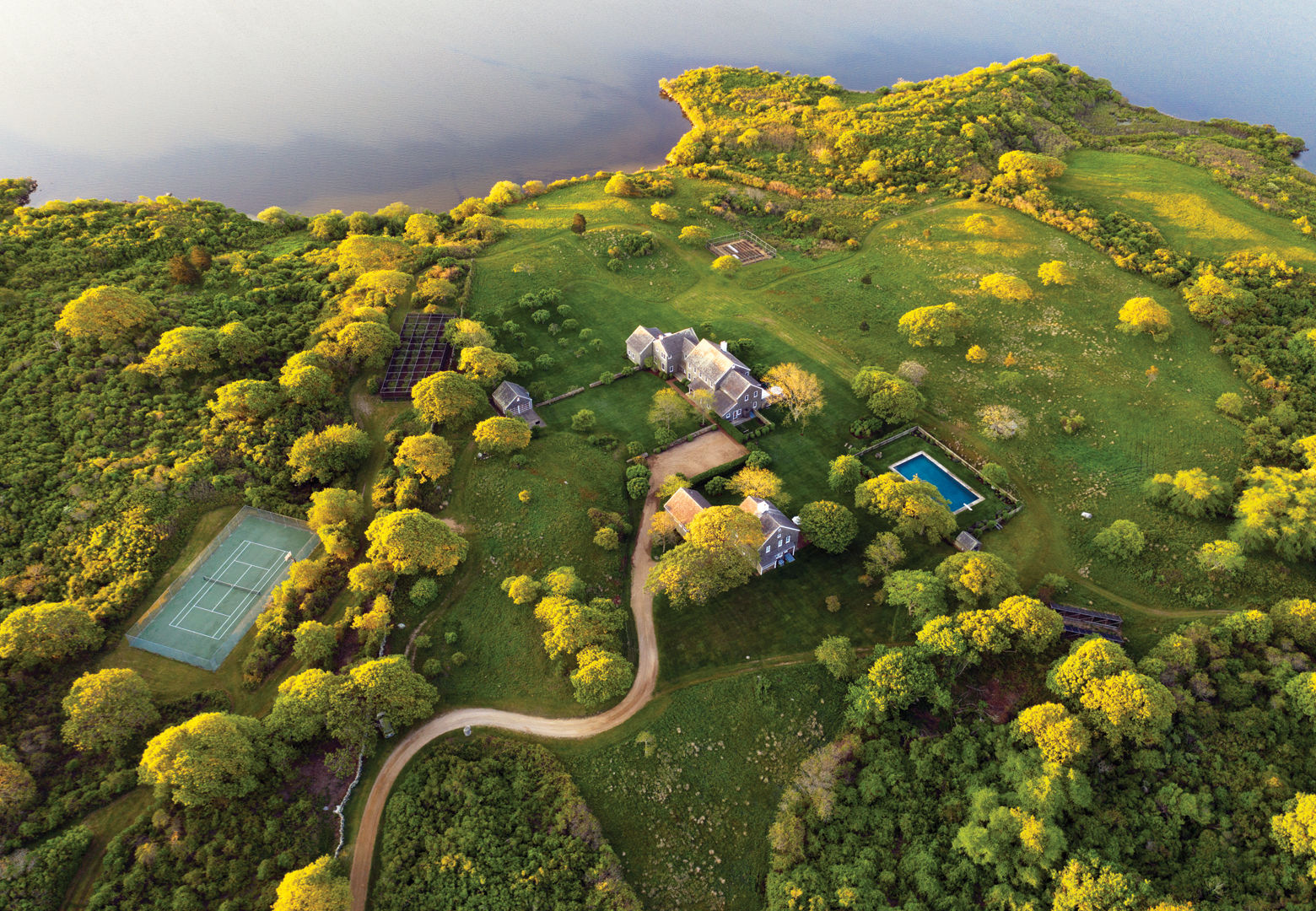 The estate's structures are in complete harmony with their natural surroundings. (Courtesy Christie's)