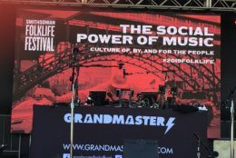 Grandmaster Flash was scheduled to close the Smithsonian Folklife Festival. (WTOP/Liz Anderson)