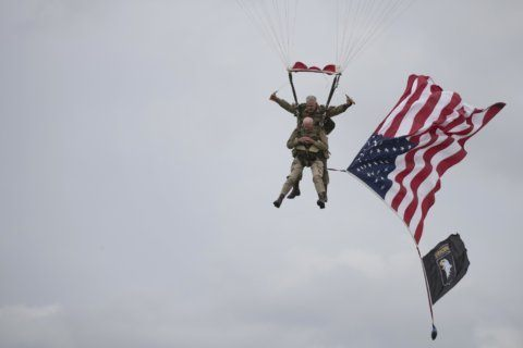 97-year-old D-Day veteran parachutes into Normandy again