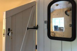 Angled doors are a feature of the Swains Lockhouse. (WTOP/Kate Ryan)