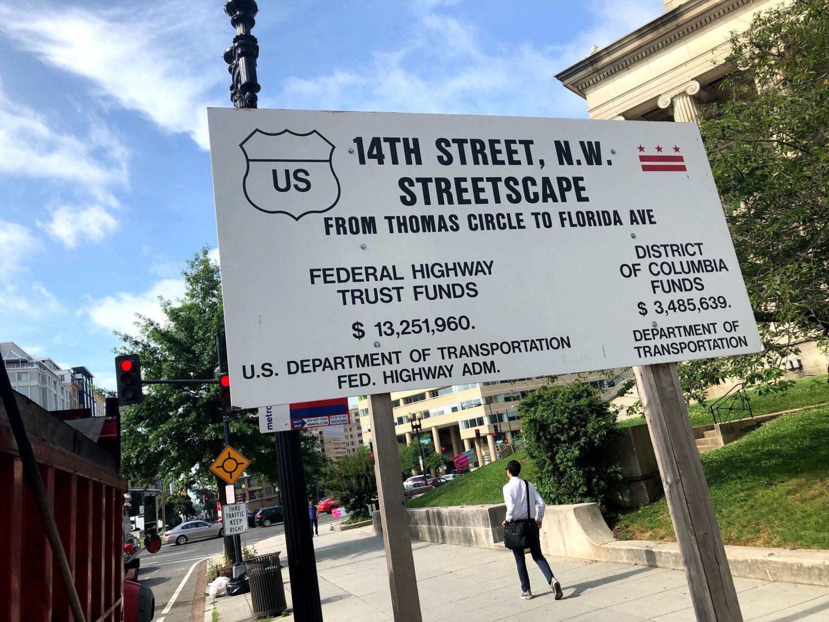 The 14th Street NW Streetscape project will run about one mile, along the commuter route from Thomas Circle to Florida Avenue NW. (WTOP/Neal Augenstein)