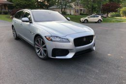 WTOP Car Reviewer Mike Parris says the Jaguar XF Sportbrake is a worthy alternative to a crossover. (WTOP/Mike Parris)